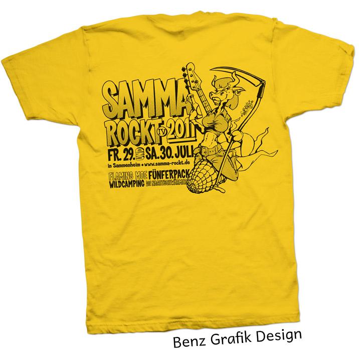 Rücken T-Shirt