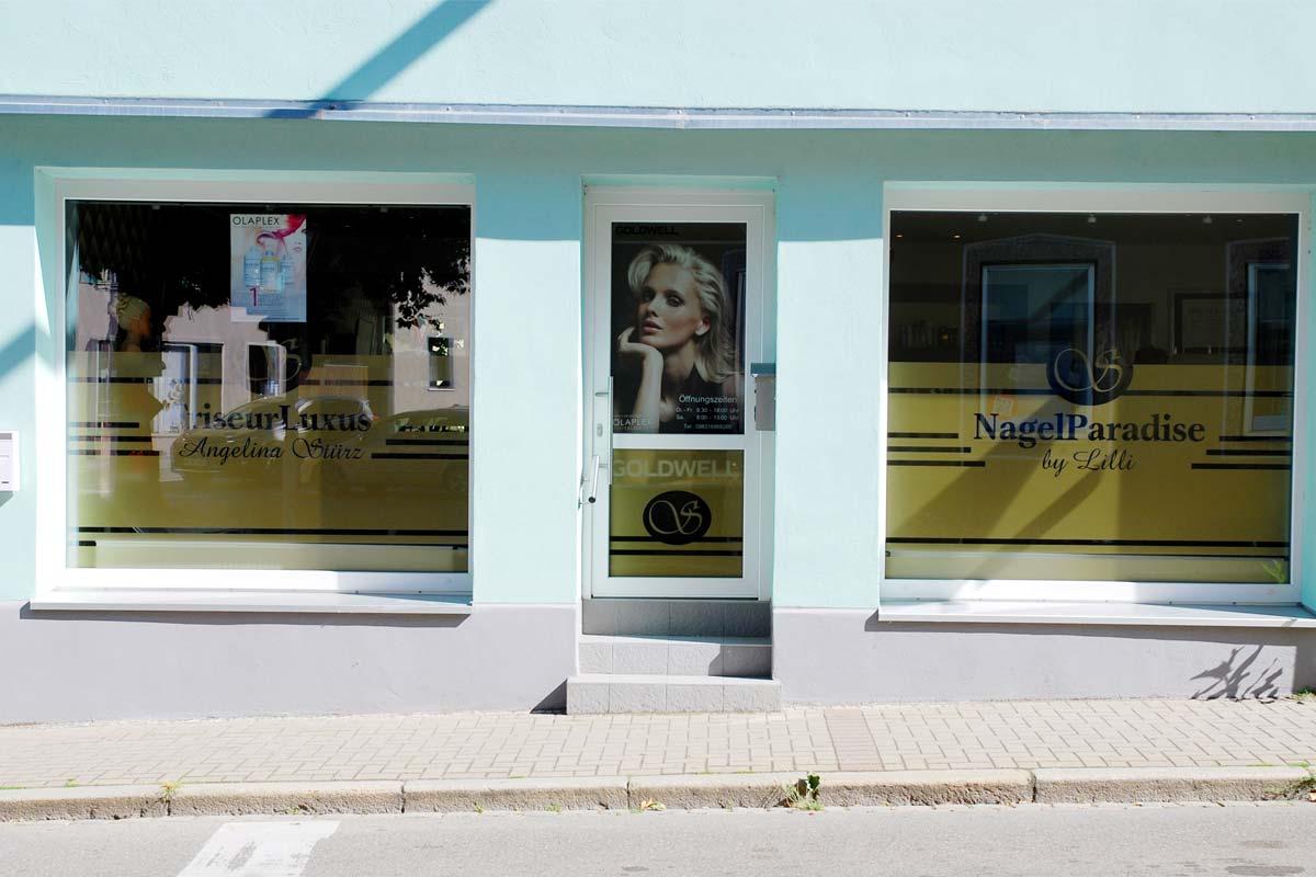 Schaufenster Beschriftung – Friseur